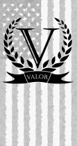 valor with flag