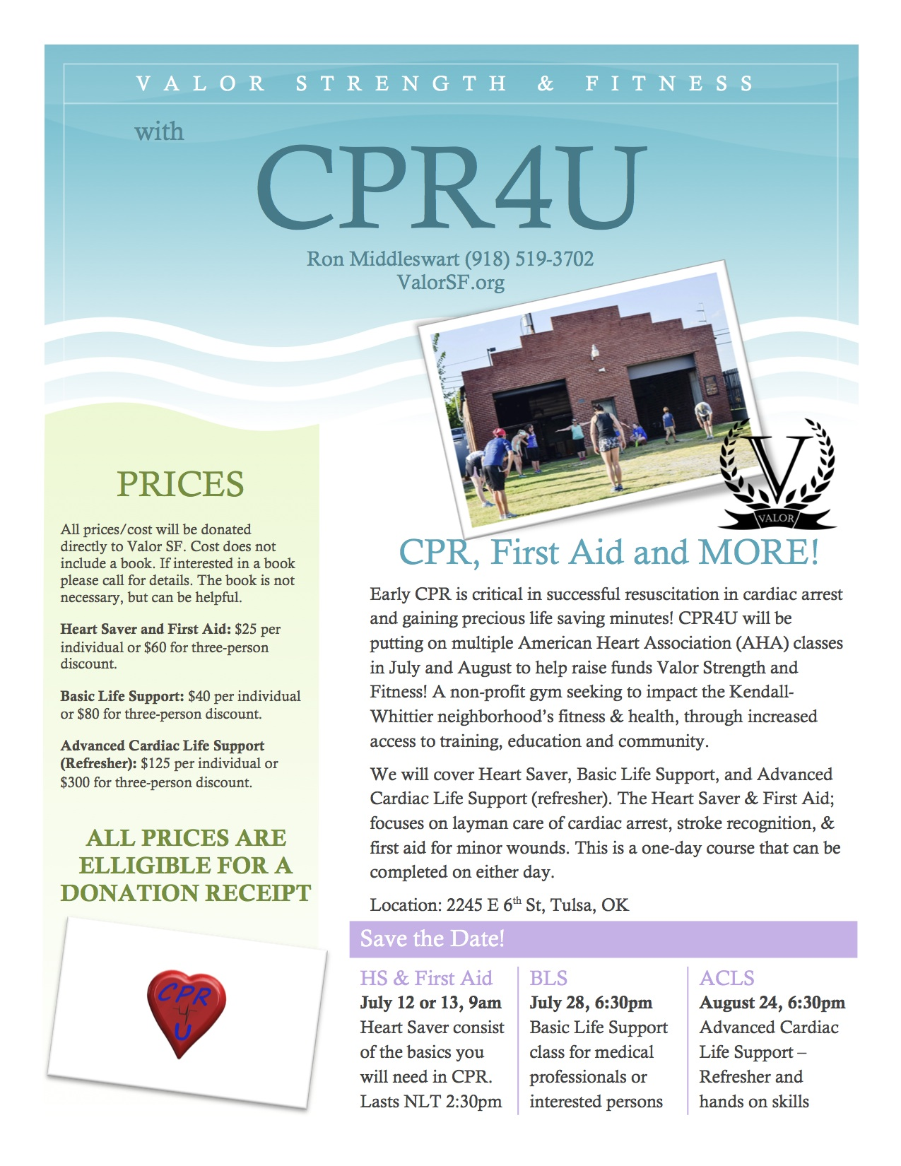 Cpr classes and fundraising valor strength fitness cpr classes xflitez Image collections